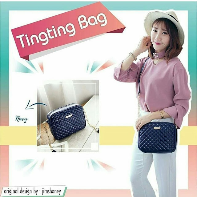 Jims Honey Ting Ting Bag Navy