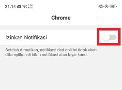 Cara Menghilangkan Notifikasi Chrome Yang Muncul Sendiri