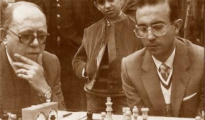 Los ajedrecistas Josep Mariné y Francisco García Orús