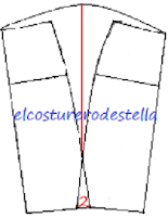 Como hacer la falda drapeada No2