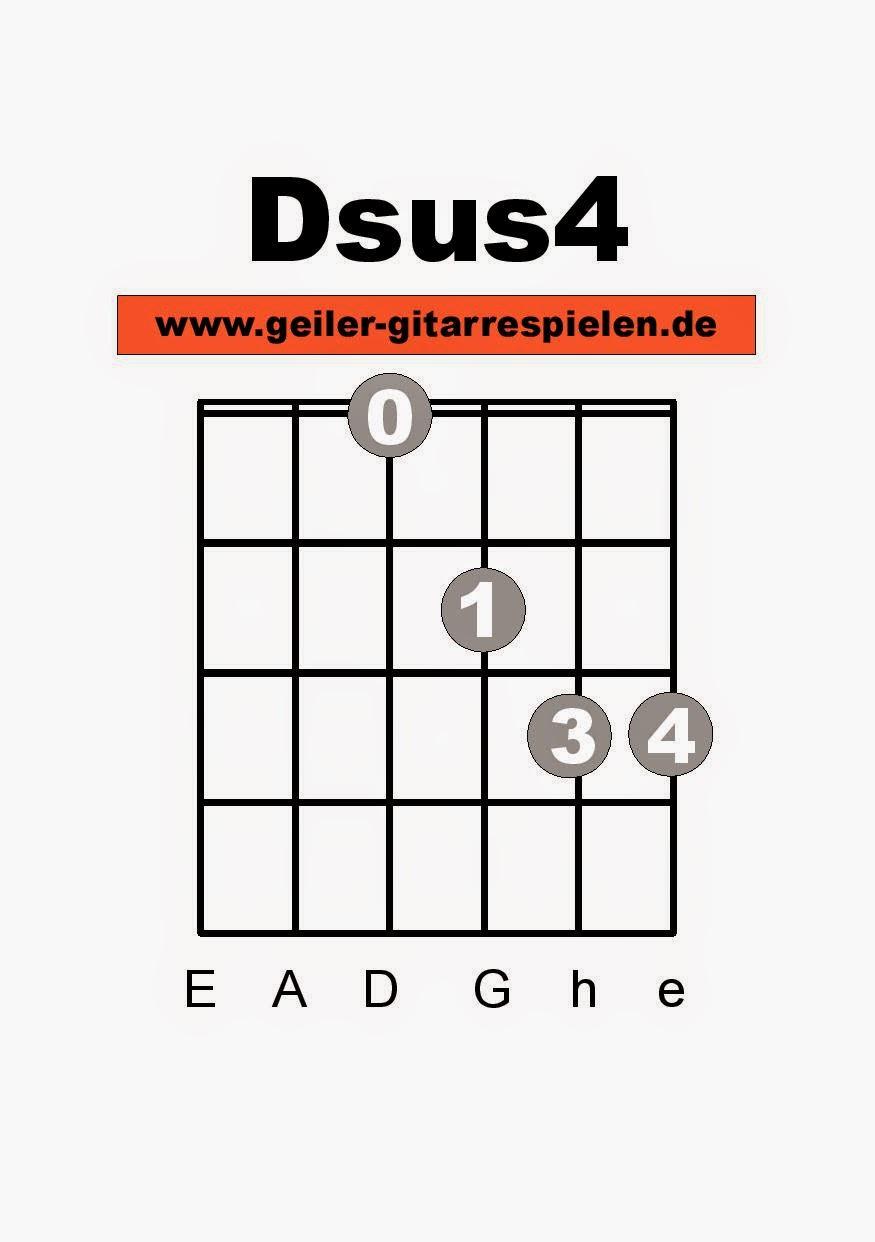 Die Gitarren Seite Dsus  und Asus Akkorde