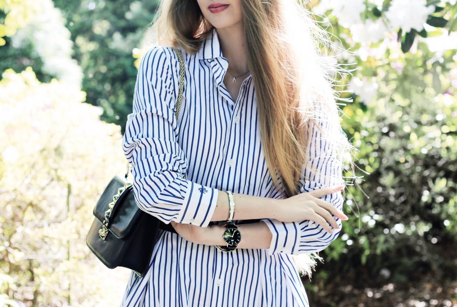 Ralph Lauren Blue White Stripe Shirt Dress
