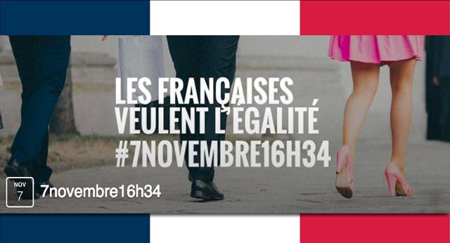 Convocan a huelga femenina en Francia contra desigualdad salarial
