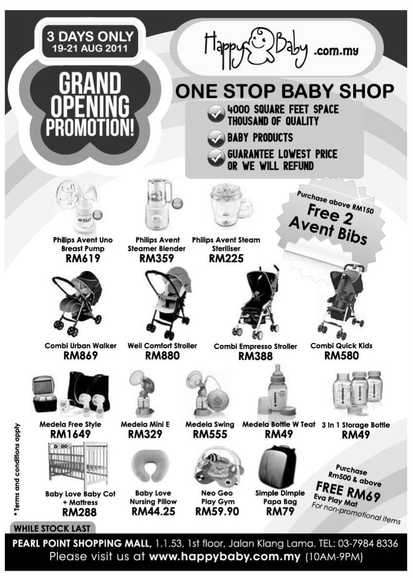 3e9be2856 One Stop Baby Shop Grand Opening Promotion (19 August - 21 August)