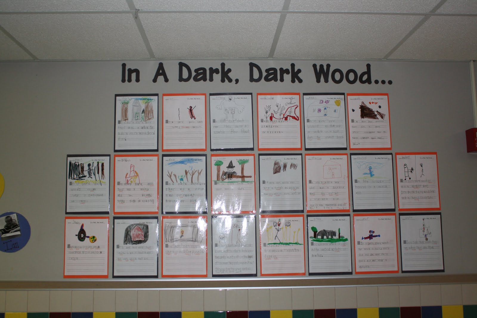 Mr First Grade Spooky Writing