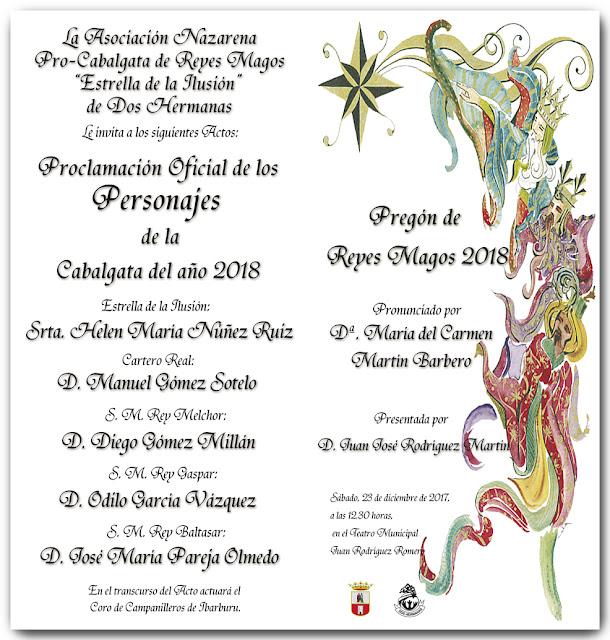 Invitación Pregón y Proclamación 2018