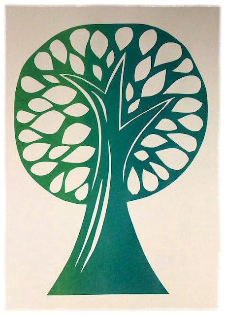 Green tree print by Ivy Arch