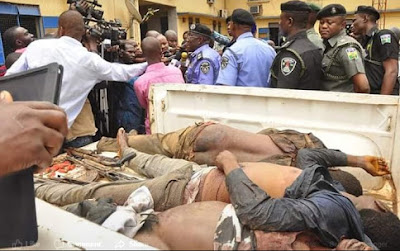 Deadly Armed Robbers Who Attack Bank In Edo State Shot Dead (Graphic Photos)