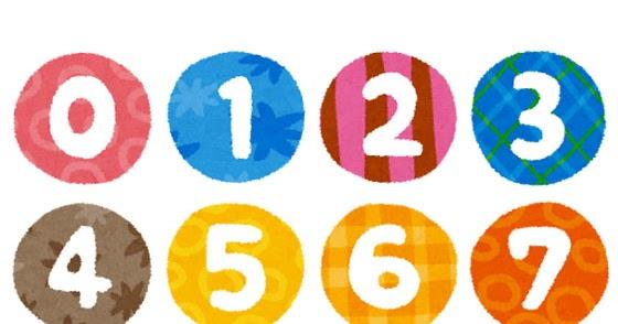 数字・番号の丸型・白抜きイラスト文字 | かわいいフリー素材集 いらすとや