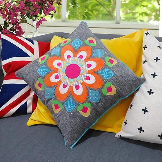 Spring Mandala Quilt & Cushion Free Pattern