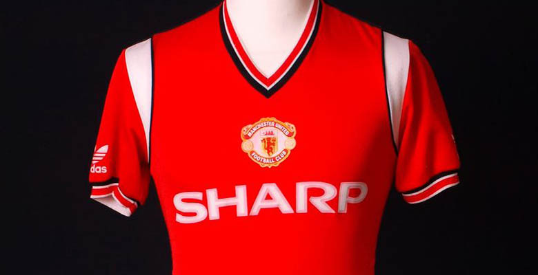 5599320eeda We take a look back at all Adidas Manchester United Home Shirts ahead of  the big launch of the new Adidas Manchester United Home Kit on August 1.