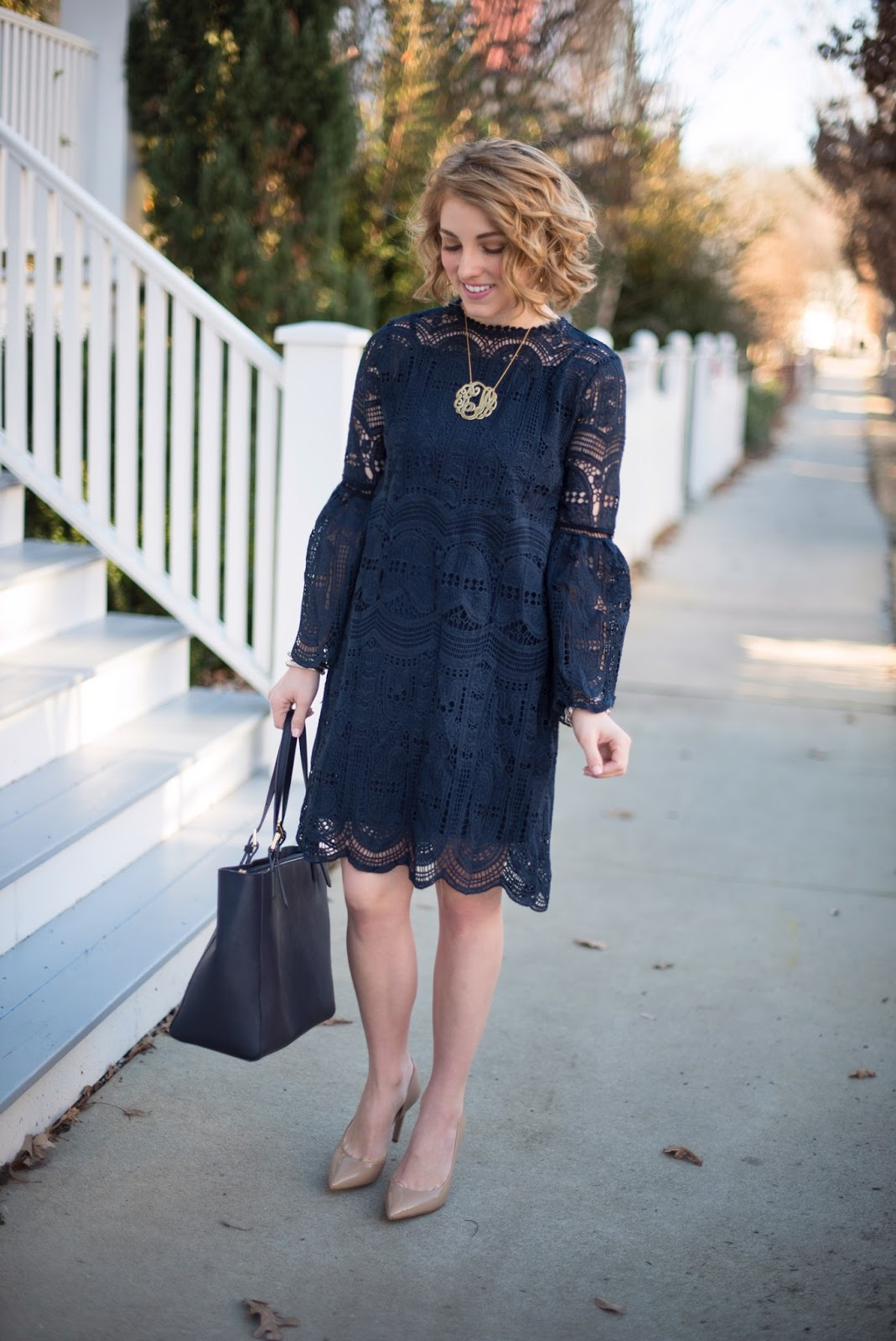 Bell Sleeve Dress - Something Delightful Blog