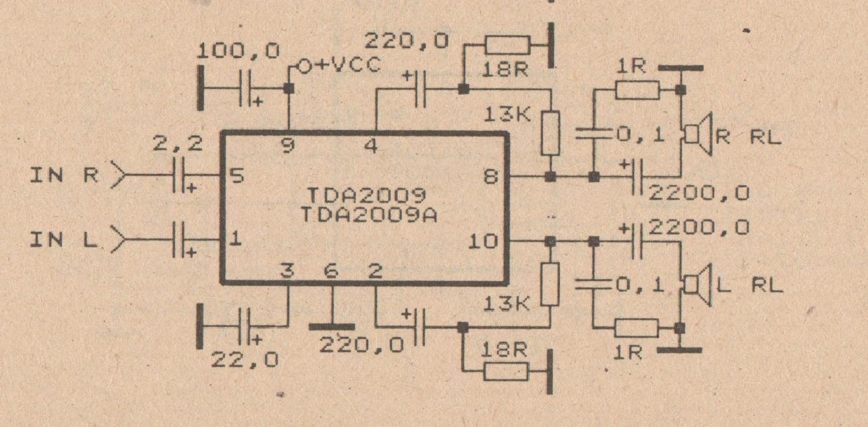 5 1 channel home theater circuit diagram guitar wiring humbucker 2 single coil x 20 w car amplifier with tda2009 - power