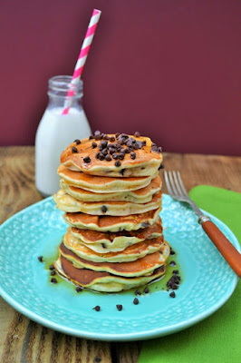 Scotch chocolate chip and raisin pancakes
