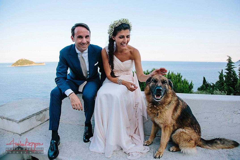 ritratto sposi Alassio isola Gallinara