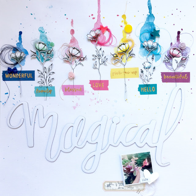 Magical Scrapbook Layout by Angela Tombari