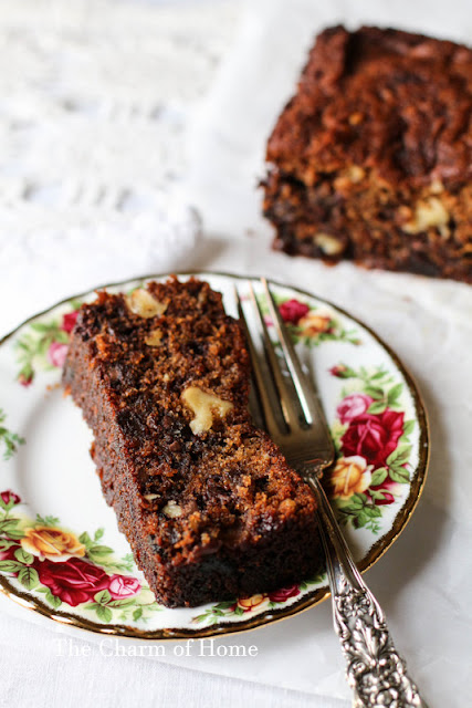 Date, Nut, Honey, and Chocolate Chip Cake
