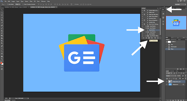 Cara Membuat Gambar Postingan Di Blogger Dengan Mudah - Cara Memasukkan Effect Long Shadow di Photoshop 1