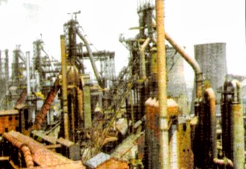 Array of SAIL Blast Furnaces