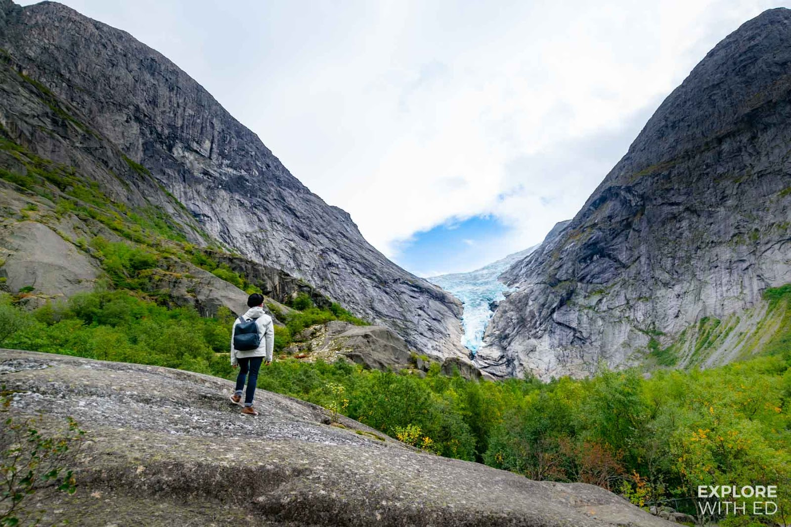 View towards Briksdal Glacier