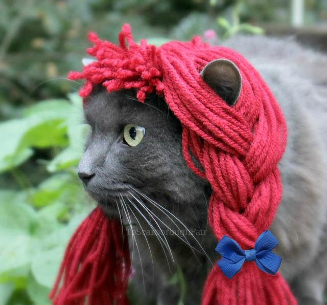 gato disfraz muñeca de trapo