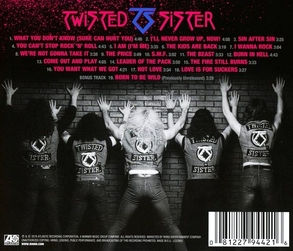 TWISTED SISTER - The Best Of The Atlantic Years (2016) back