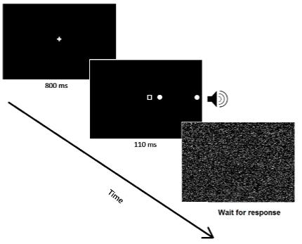 図:右脳卒中患者の同側無視の検査