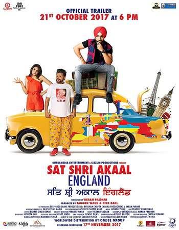 Poster Of Pollywood Movie Sat Shri Akaal England 2017 300MB HDRip 480P Full Punjabi Movie