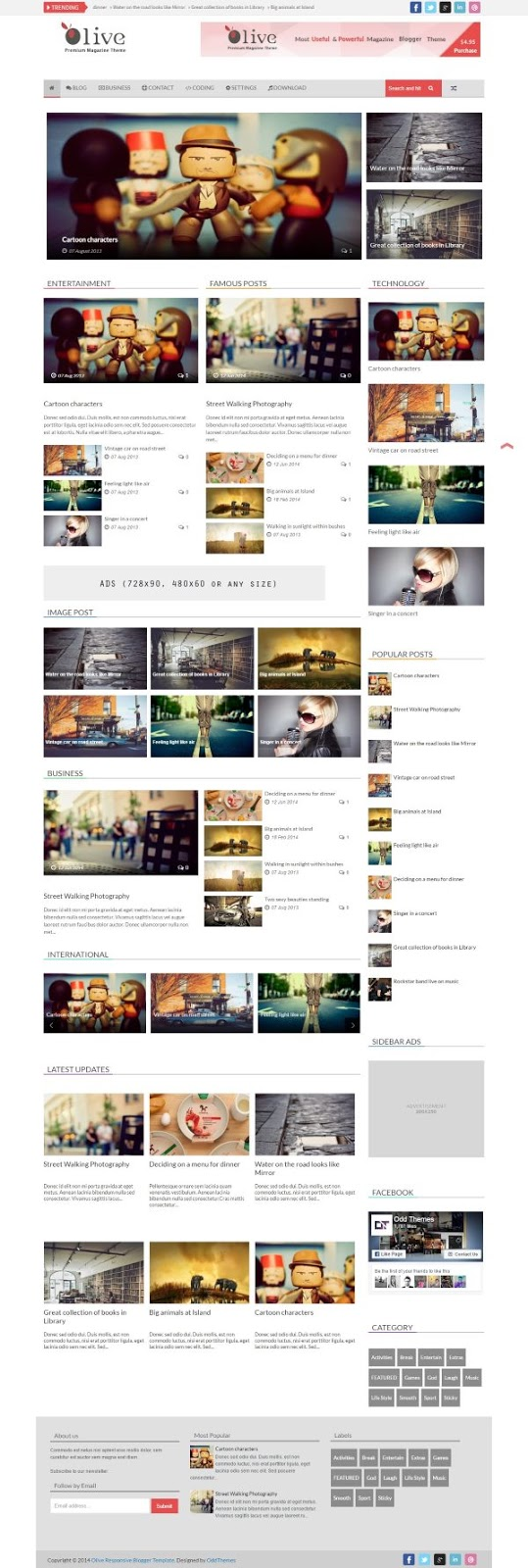 Download Olive Responsive (News & Magazine) Blogger Template. User friendly  SEO friendly  Mobile friendly  Schema including  Adsense ready  Coloum  Related posts widget  Custom contact form  Responsive design  Responsive navigation bar  Thumbnail with read more  Social sharing button  Search engine optimization  Footer links.