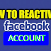 How Reactivate Facebook Account