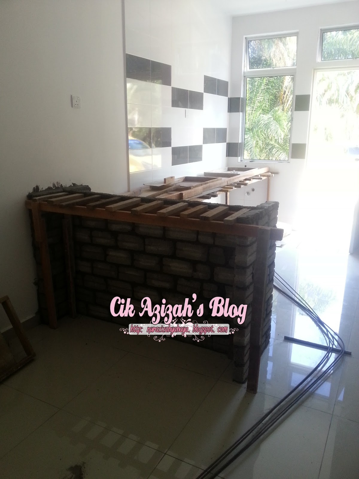 Home progress table top kitchen cabinet part 1 cik azizah for Table top kitchen cabinet