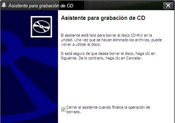 Asistente grabar CD