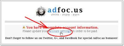 Langkah ke 7 cara daftar di Adfoc.us