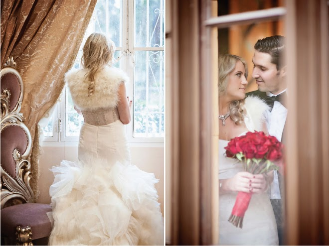 Old Hollywood Glam Winter Wedding - Belle The Magazine
