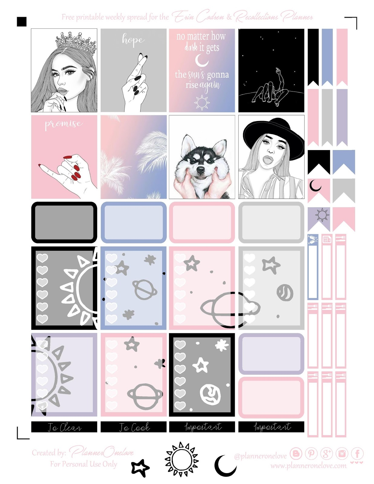 graphic about Tumblr Stickers Printable identified as cost-free tumblr vibes printable planner stickers for the Erin