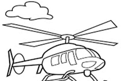 Gambar Helikopter Untuk Mewarnai