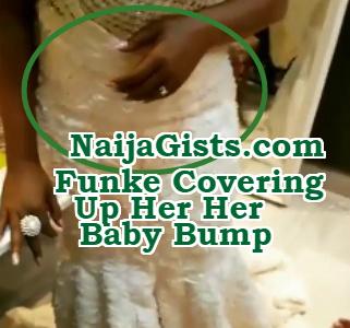 funke akindele baby bump