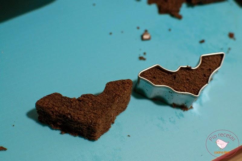 murcielagos de bizcocho de chocolate