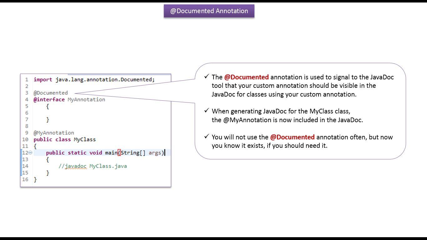 Java ee java tutorial annotations in java java annotations java tutorial annotations in java java annotations built in annotations in java documented baditri Gallery