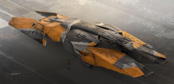 Colie Wertz artstation arte ilustrações ficção científica naves espaciais máquinas de guerra veículos robôs