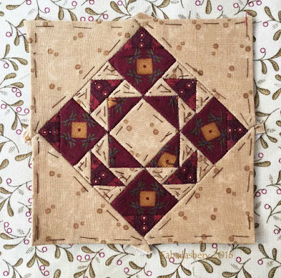 Dear Jane Quilt - Block A12 Framed Fancy