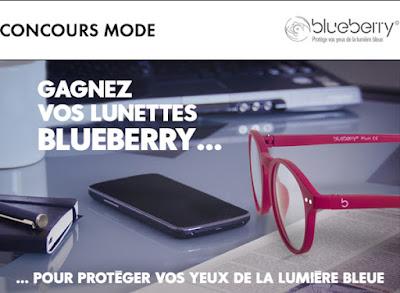 Jeu Concours 50 lunettes anti lumière bleue Blueberry à gagner