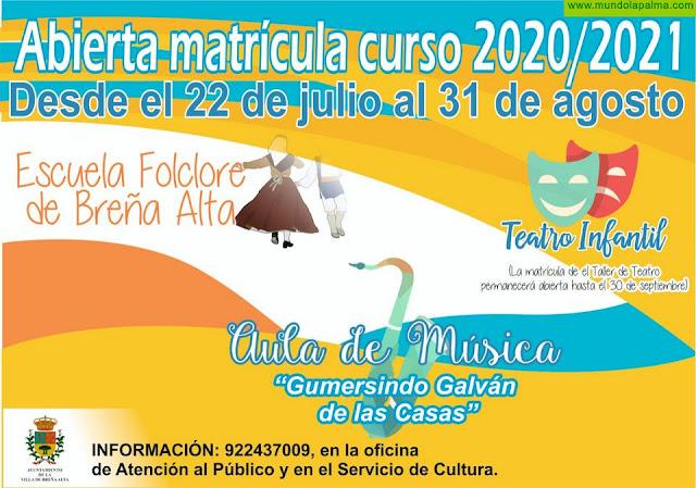 Matricula abierta para la Escuela de Folclore, Aula de Música y Teatro Infantil en Breña Alta