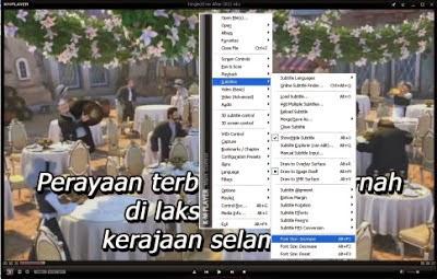 memperkecil ukuran subtitle pada KMPlayer