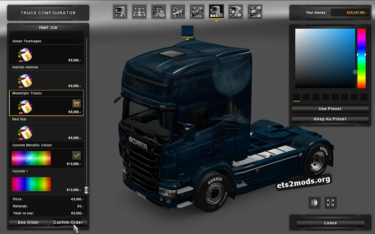 New Pack Skin for Scania RJL by TIMDAM