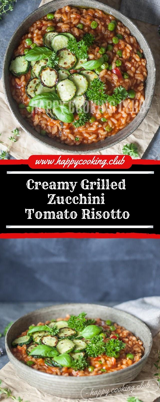 Creamy Grilled Zucchini Tomato Risotto