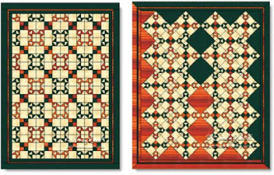 Rio Grande Crossing quilts © W. Russell, patchworksquare.com