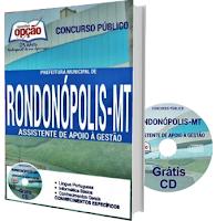 Apostila pdf Prefeitura de Rondonópolis 2016