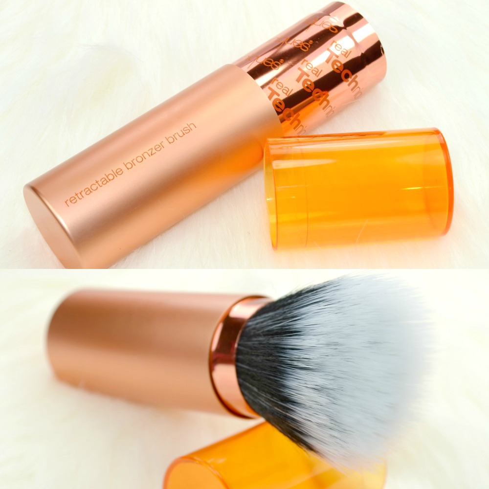 Real Techniques Retractable Bronzer Brush & Kabuki Brush