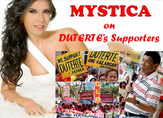Mystica to DUTERTARDS: 'I have made my point but you are so blind to see the truth!'